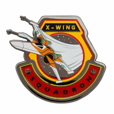 X-Wing Fighter Star Wars The Rise of Skywalker Pin