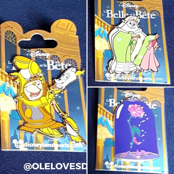 Beauty and the Beast December 2019 DLP Pins
