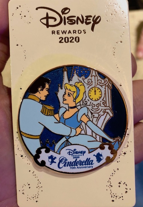 Cinderella 70th Anniversary Disney Visa Cardmember Pin