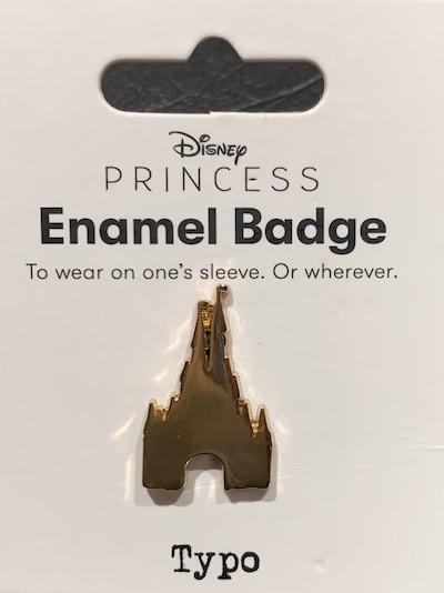 Cinderella Castle Typo Pin