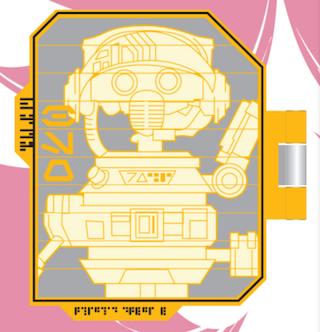 DJ R3X Droid Schematic Star Wars Galaxy's Edge Pin