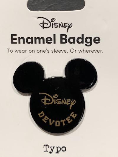 Disney Devotee Typo Pin