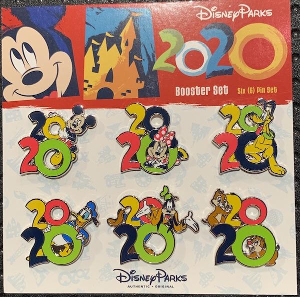 Disney Parks 2020 Booster Pin Set
