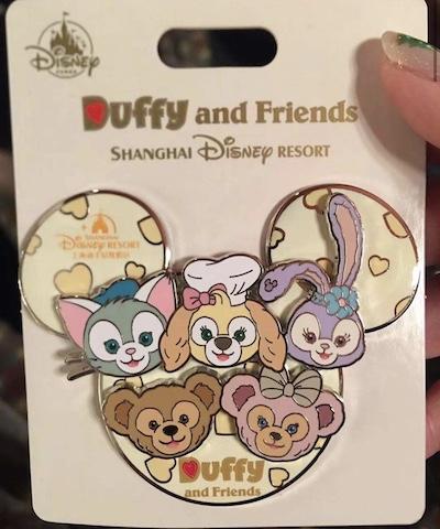 Duffy and Friends Mickey Icon Pin - Shanghai Disneyland
