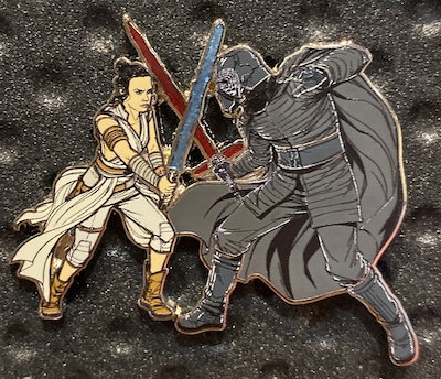 Kylo and Rey Battle Star Wars Pin