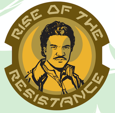 Lando Rise of the Resistance Star Wars Galaxy's Edge Pin