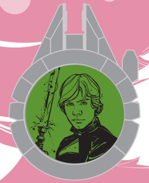 Luke Skywalker Resistance Reveal Star Wars Galaxy's Edge Pin