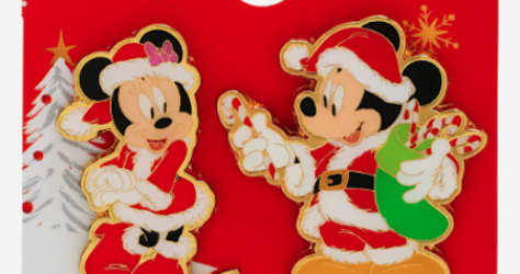 Mickey & Minnie Mouse Santa Holidays 2019 BoxLunch Pin Set