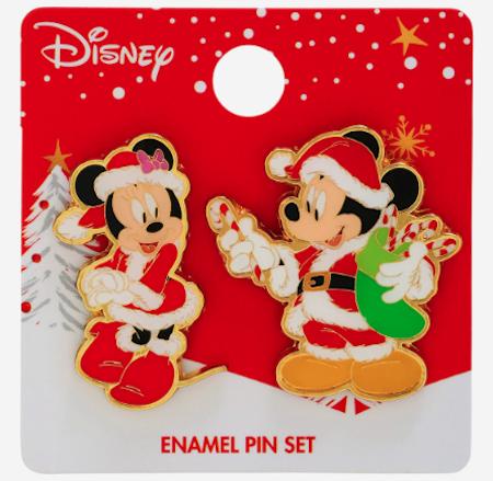 Mickey & Minnie Mouse Santa Holidays 2019 BoxLunch Pin Set