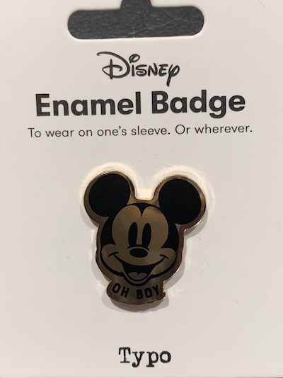Mickey Oh Boy Disney Typo Pin