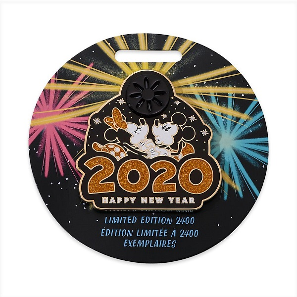 Mickey and Minnie Mouse Happy New Year 2020 Pin