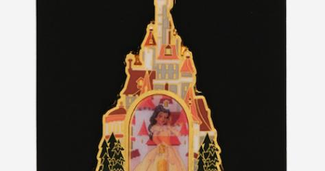 Princess Belle Castle BoxLunch Disney Pin