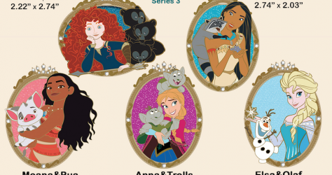 Princess and Friends Series 3 Disney Employee Center Pins