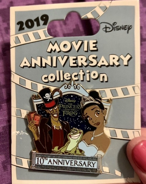 Princess and the Frog 10th Anniversary Cast Member Pin