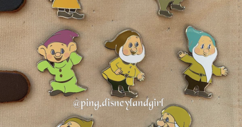 Seven Dwarfs HKDL Hidden Mickey Game Pins