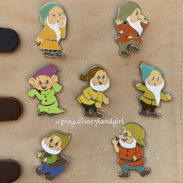 Seven Dwarfs HKDL Hidden Mickey Game Pins