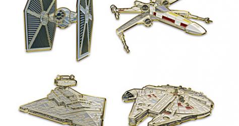 Star Wars 24K Gold Bradford Exchange Pin Set
