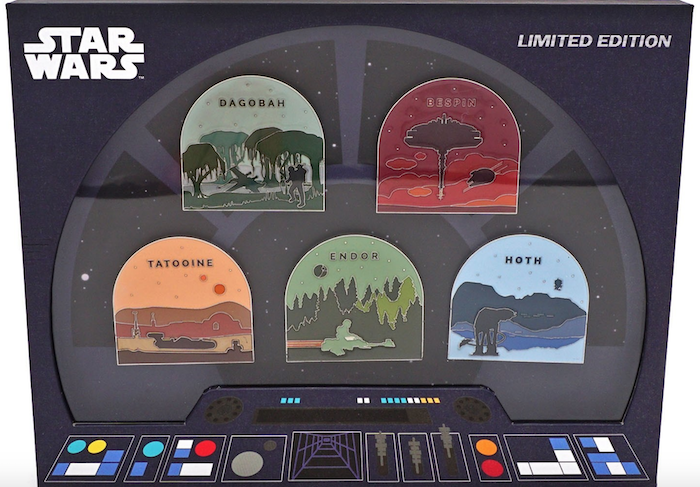Star Wars Planets Loungefly Pin Set