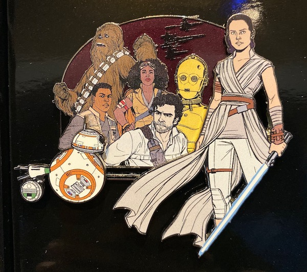 Star Wars The Rise of Skywalker Cluster Jumbo Pin