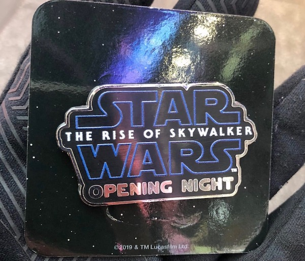 Star Wars The Rise of Skywalker Opening Night Pin