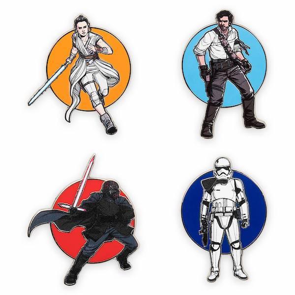 Star Wars The Rise of Skywalker Pin Trading Starter Set Pins