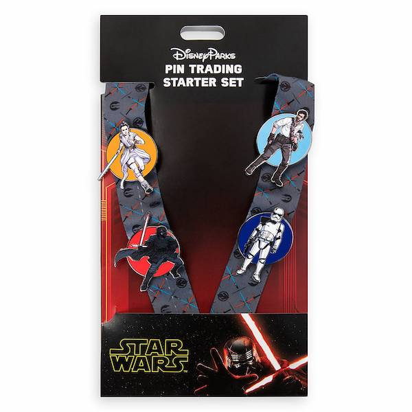 Star Wars The Rise of Skywalker Pin Trading Starter Set