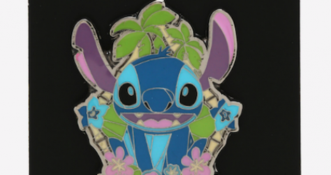 Stitch Tropical Stained Glass BoxLunch Disney Pin