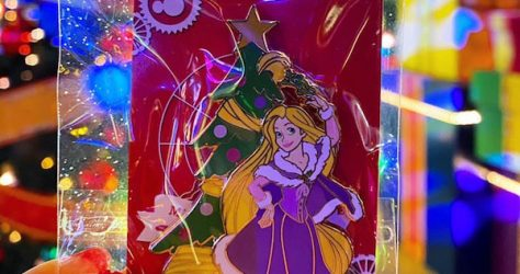 Surprise Christmas Rapunzel Disneyland Paris Pin