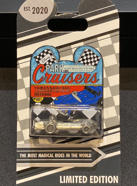 Tomorrowland Speedway Disney Park Cruisers Pin