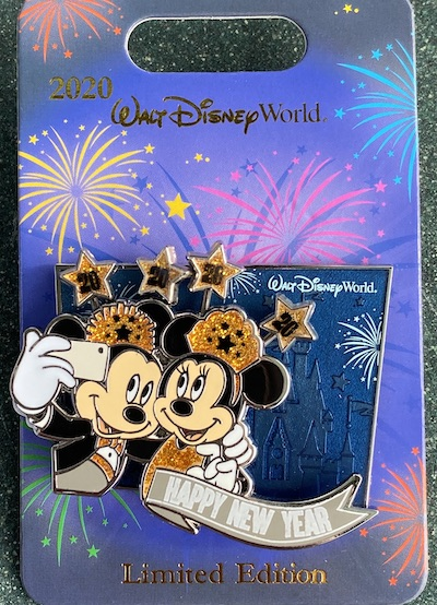 Walt Disney World Happy New Year 2020 Pin