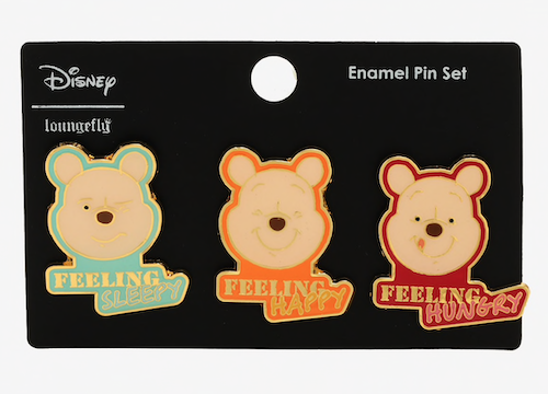 Winnie the Pooh Mood BoxLunch Disney Pin Set