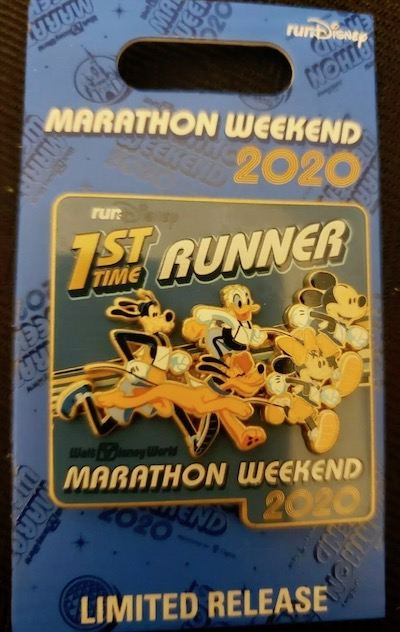 1st Time Runner WDW Marathon Weekend 2020 Pin