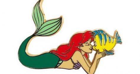 Ariel and Flounder Kraken Trade Pin