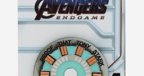 Avengers Endgame Iron Man Stark Heart Glow-in-the-Dark BoxLunch Marvel Pin