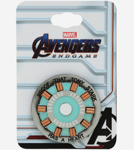 Avengers Endgame Iron Man Stark Heart Glow-in-the-Dark BoxLunch Marvel Pin