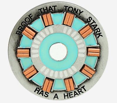 Avengers Endgame Iron Man Stark Heart Glow-in-the-Dark Marvel Pin