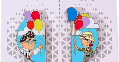 Carl Fredricksen and Ellie Up Couples Pin Set