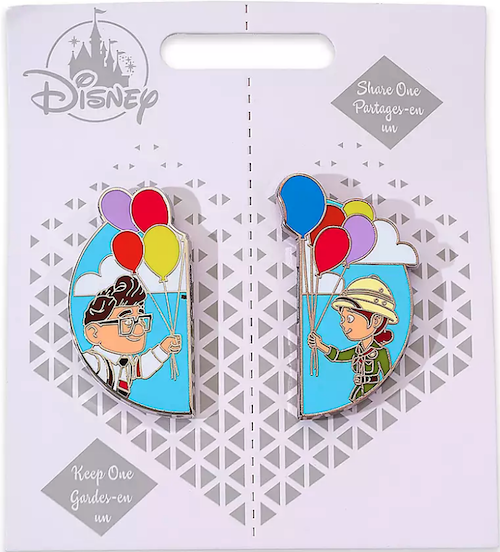 Carl Fredricksen and Ellie Up Couples Pin Set