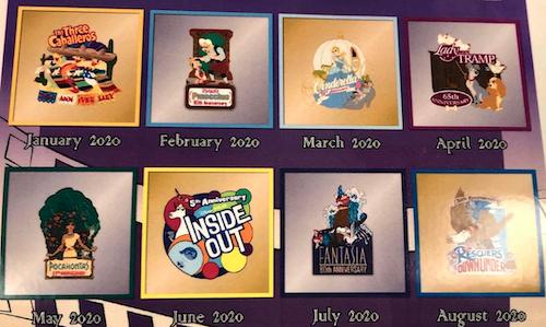 Cast Member 2020 Disney Pin & Lanyard Collections