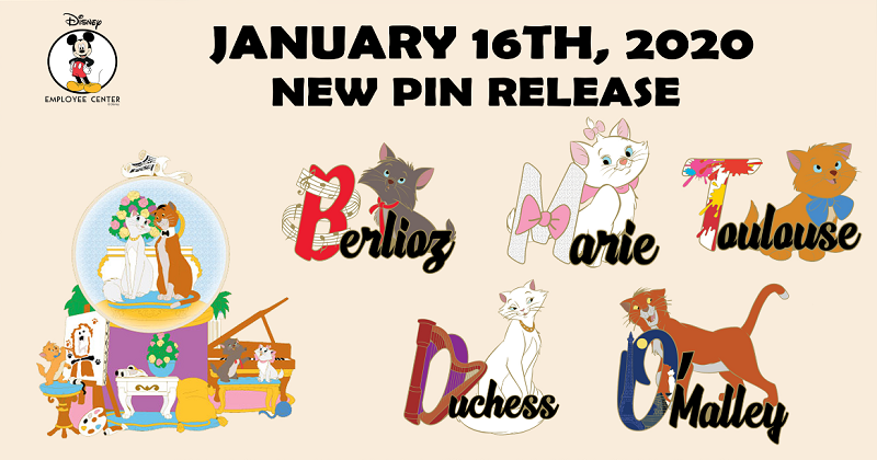 Character Names Series #4 Disney Employee Center PinsCharacter Names Series #4 Disney Employee Center Pins