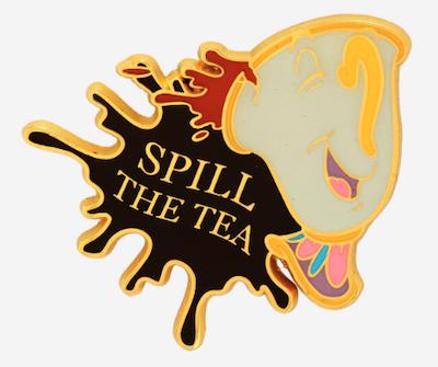 Chip Spill the Tea Disney Pin