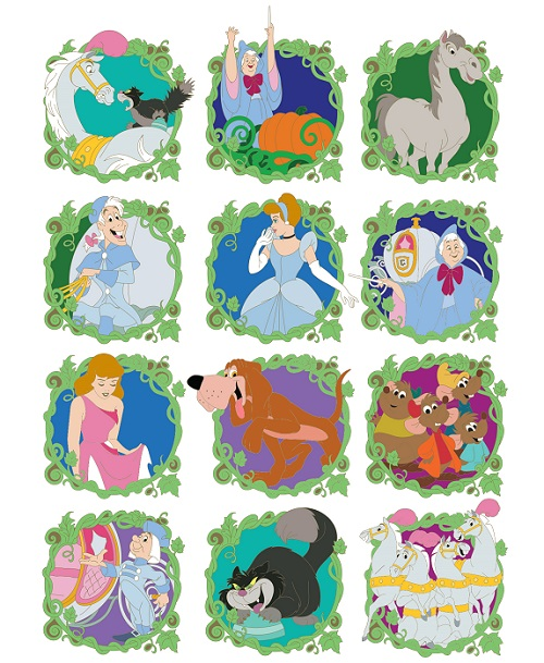 Cinderella 70th Anniversary Mystery Pin Collection