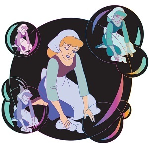 Cinderella 70th Anniversary Soap Bubble Pin
