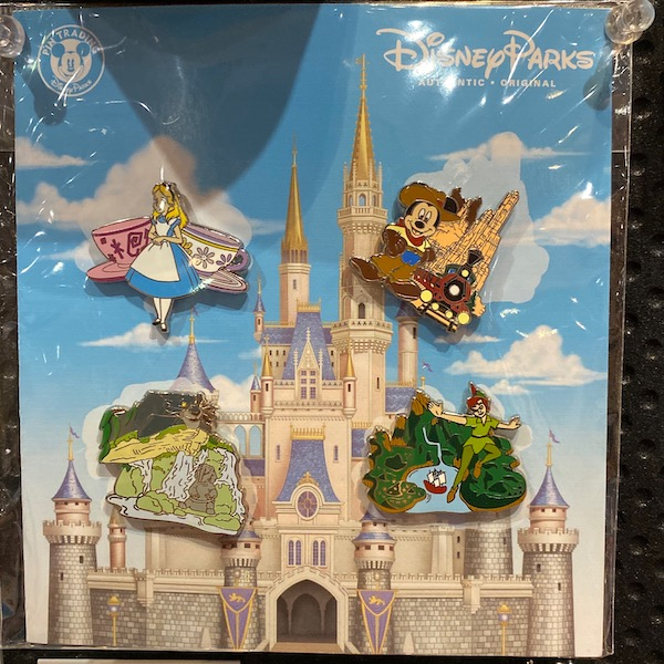 Disney Parks Attractions Booster Pin Set
