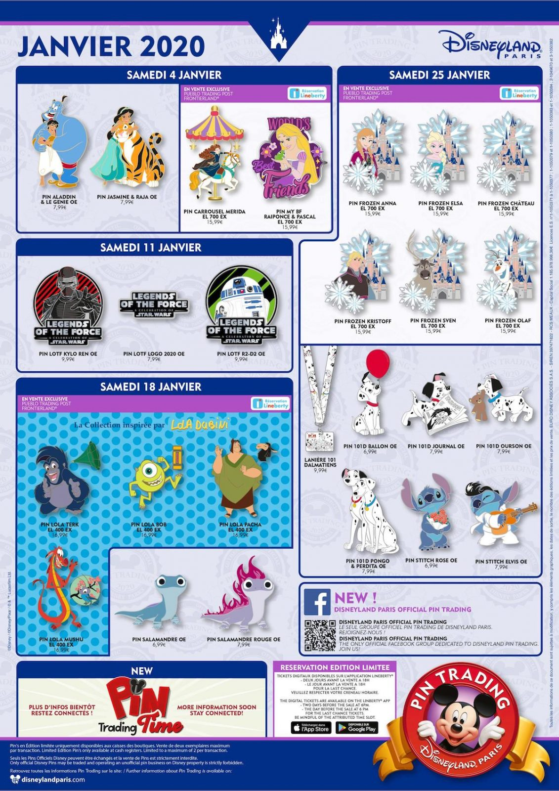 Disneyland Paris January 2020 Pins
