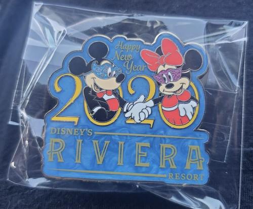 Disney's Riviera Happy New Year 2020 Pin