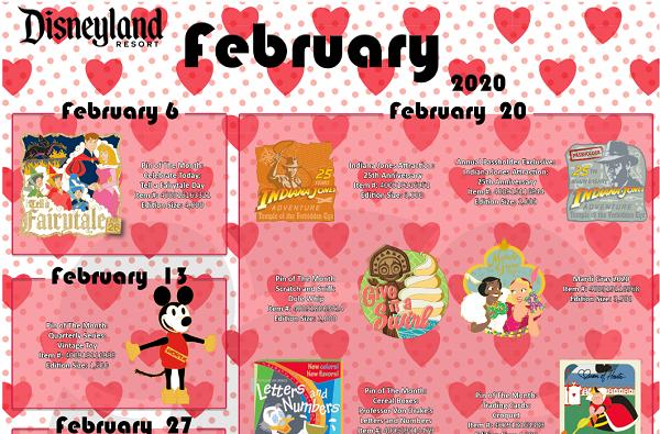 February 2020 Disney Pins