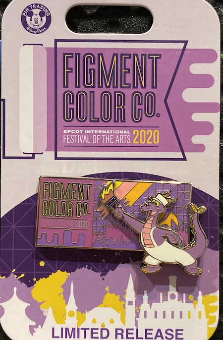Figment Color Co. Epcot Festival of the Arts 2020 Disney Pin