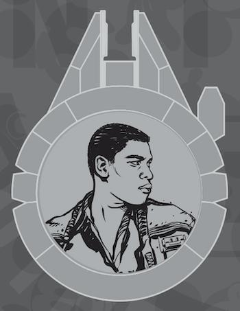 Finn Resistance Reveal Star Wars Galaxy's Edge Pin