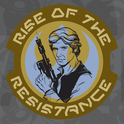 Han Solo Rise of the Resistance Star Wars Galaxy's Edge Pin